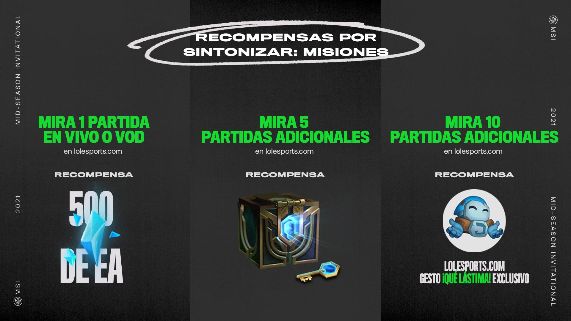msi 2021 misiones recompensas