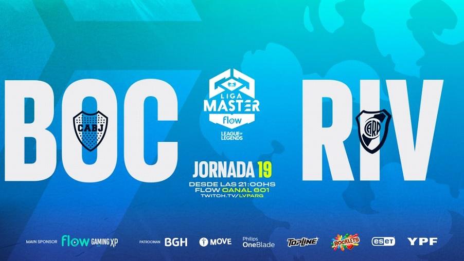 Liga Master Flow 2021: Boca Juniors Gaming vs River Plate Gaming